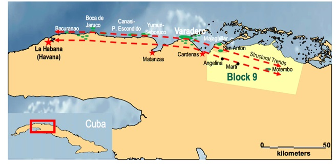 Cuba Block 9 read through to MEO Australia Leni Gas Cuba